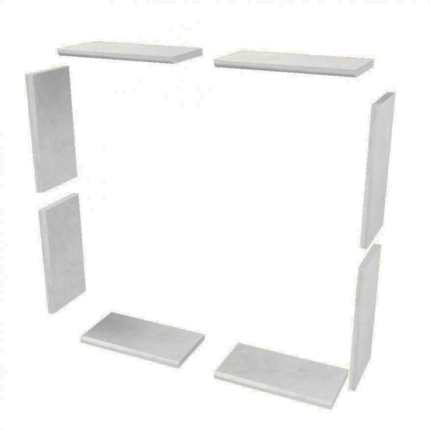 Sistine Stone Window Tile Kits  Shower Detail - American Bath Factory