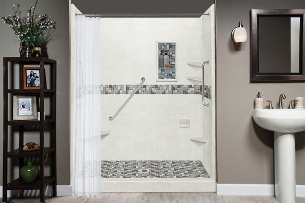 "24"" Metal Grab Bar  Shower Detail - American Bath Factory"