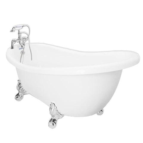 "67"" Clawfoot Slipper Bathtub"