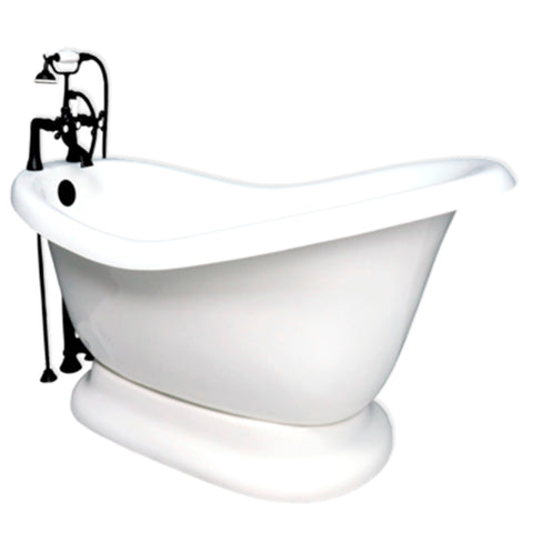 Pedestal Slipper Bathtub  Bathtub - American Bath Factory