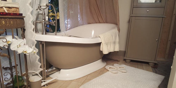 Pampering Princess Pedestal with Shower Ring  Bathtub Package - American Bath Factory