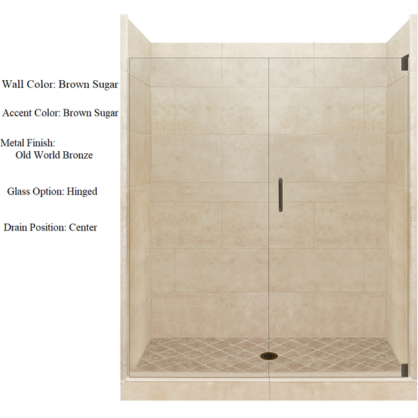4x4 Alcove Shower Kit Style & Color Options