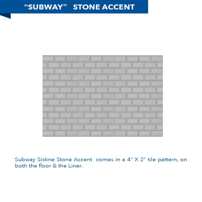 "Subway Portland Cement 60"" Alcove Shower Kit"