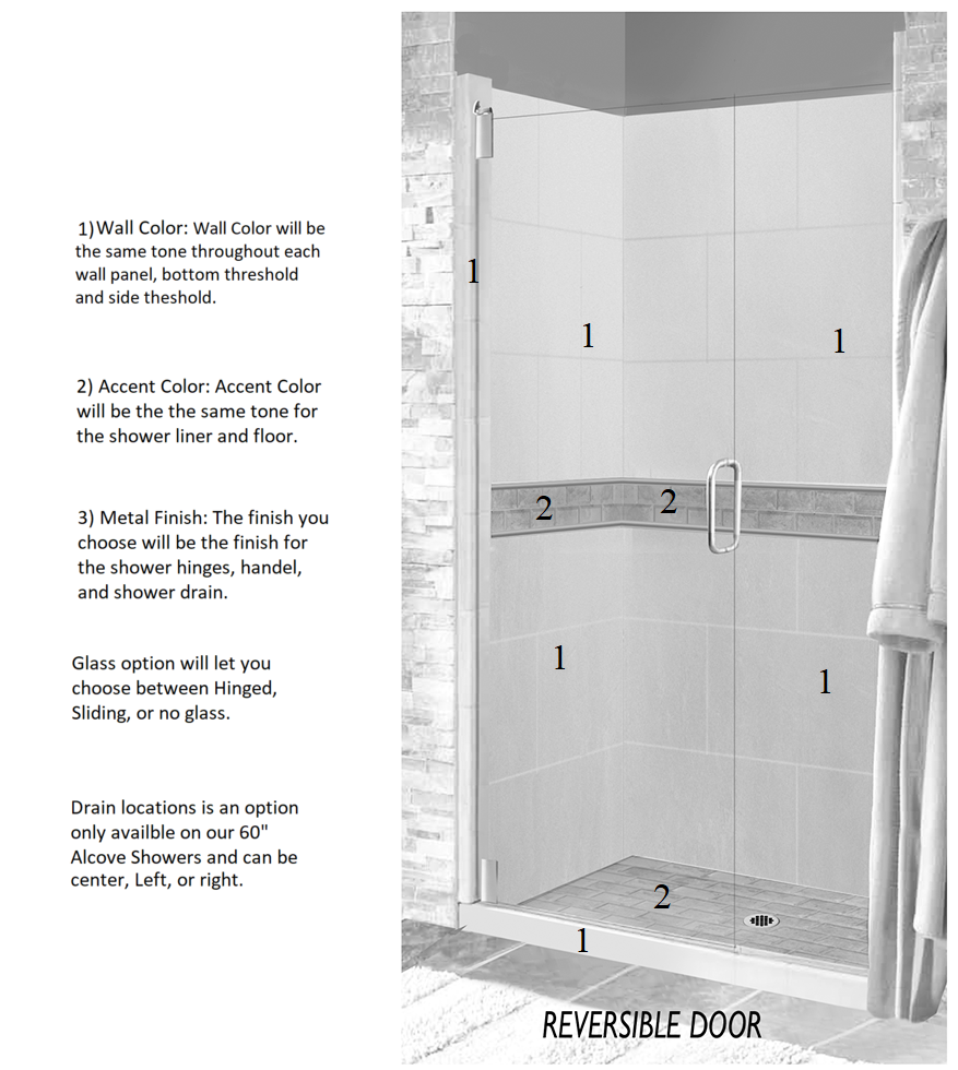 Subway Alcove Shower Kit Style & Color Options – American Bath Factory