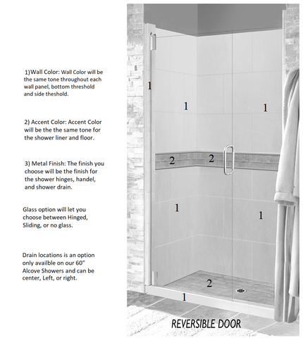 "Subway 60"" Alcove Shower Kit Style & Color Options  Shower Kit - American Bath Factory"