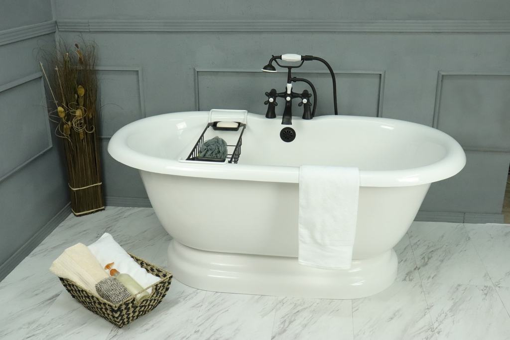 "Double Ended 60"" Pedestal Base & Integrated Drain - CLEARANCE  Clearance Bathtub - American Bath Factory"