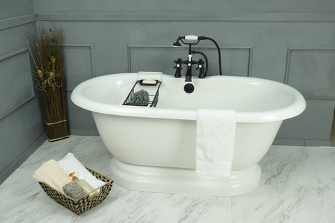 Earl Double Pedestal Bathtub
