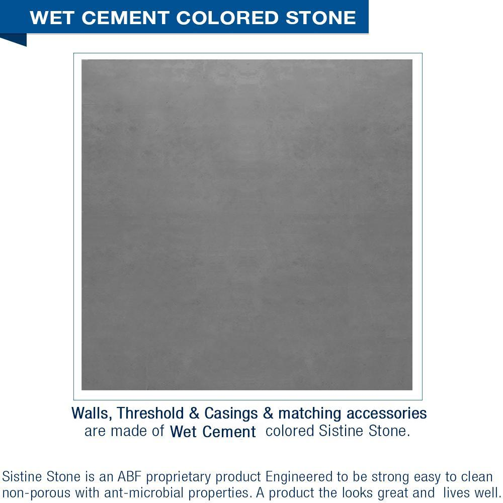 Classic Wet Cement Corner Shower Kit