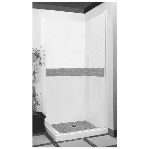 Pebble Corner Shower Kit Style & Color Options - American Bath Factory