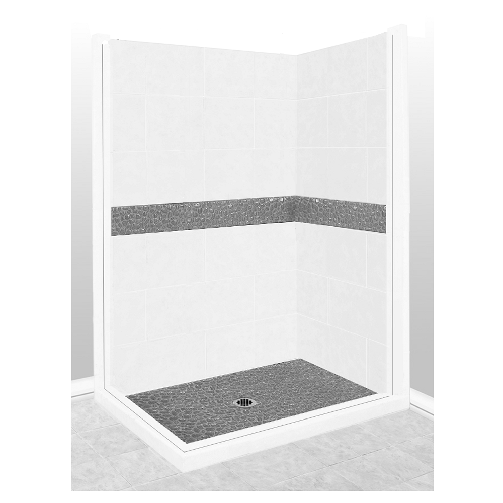 Pebble Corner Shower Kit Style & Color Options  Shower Kit - American Bath Factory