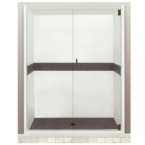 "60"" Alcove Zen Shower Kits - American Bath Factory"