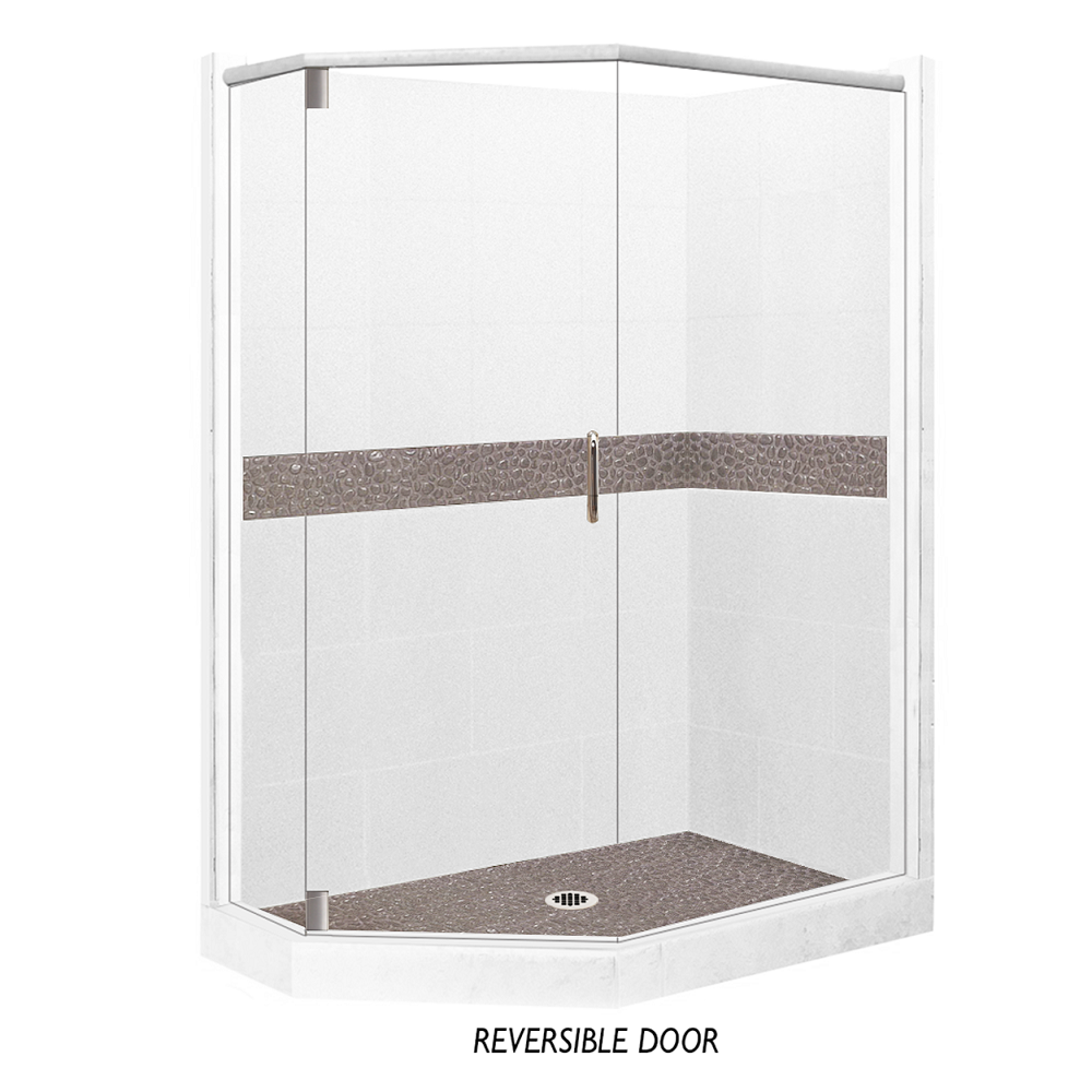 Pebble Neo-Angle Shower Kit Style & Color Options  Shower Kit - American Bath Factory