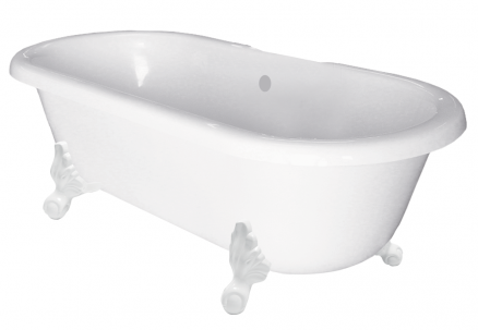 winston double cast iron clawfoot tub