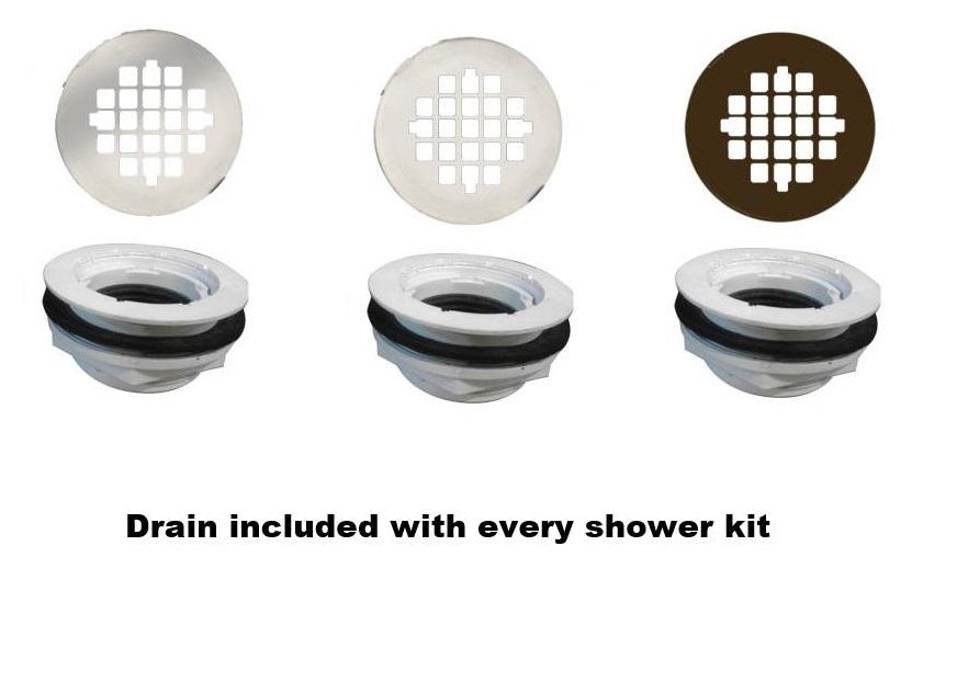 "Classic 60"" Alcove Shower Kit Style & Color Options  Shower Kit - American Bath Factory"