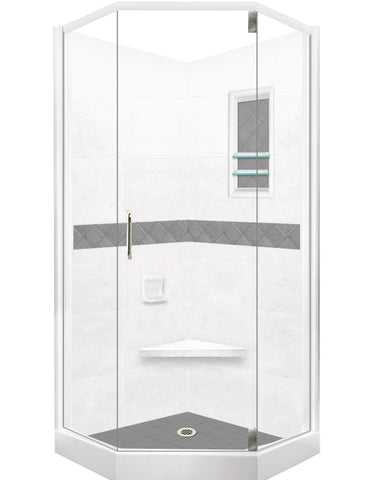 Diamond Neo-Angle Shower Kit  Shower Kit - American Bath Factory