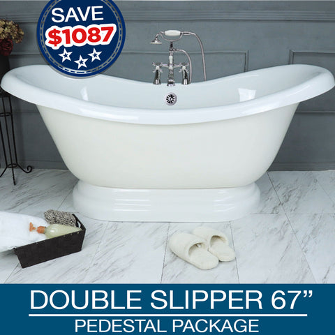 "Double Slipper 67"" Pedestal Base"
