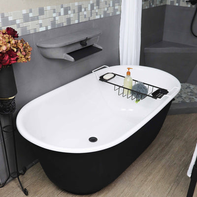 "Manhattan 60"" Double Painted Bathtub & Faucet Package"