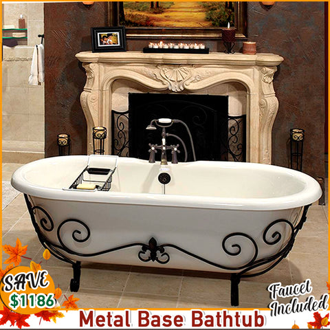 "FALL SPECIAL!  Double Ended 60"" Nuevo & Faucet Package with I-drain"