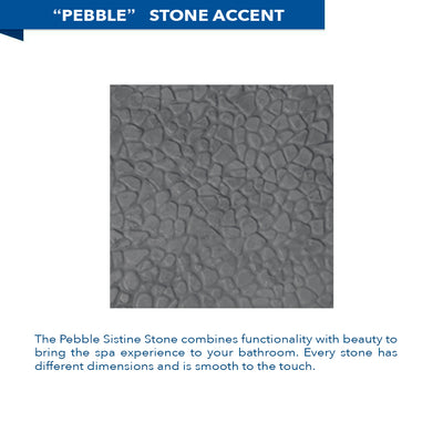 Pebble Wet Cement Corner Shower Kit