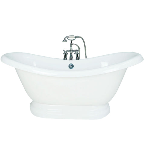"67"" Pedestal Double Slipper Bathtub  Bathtub - American Bath Factory"