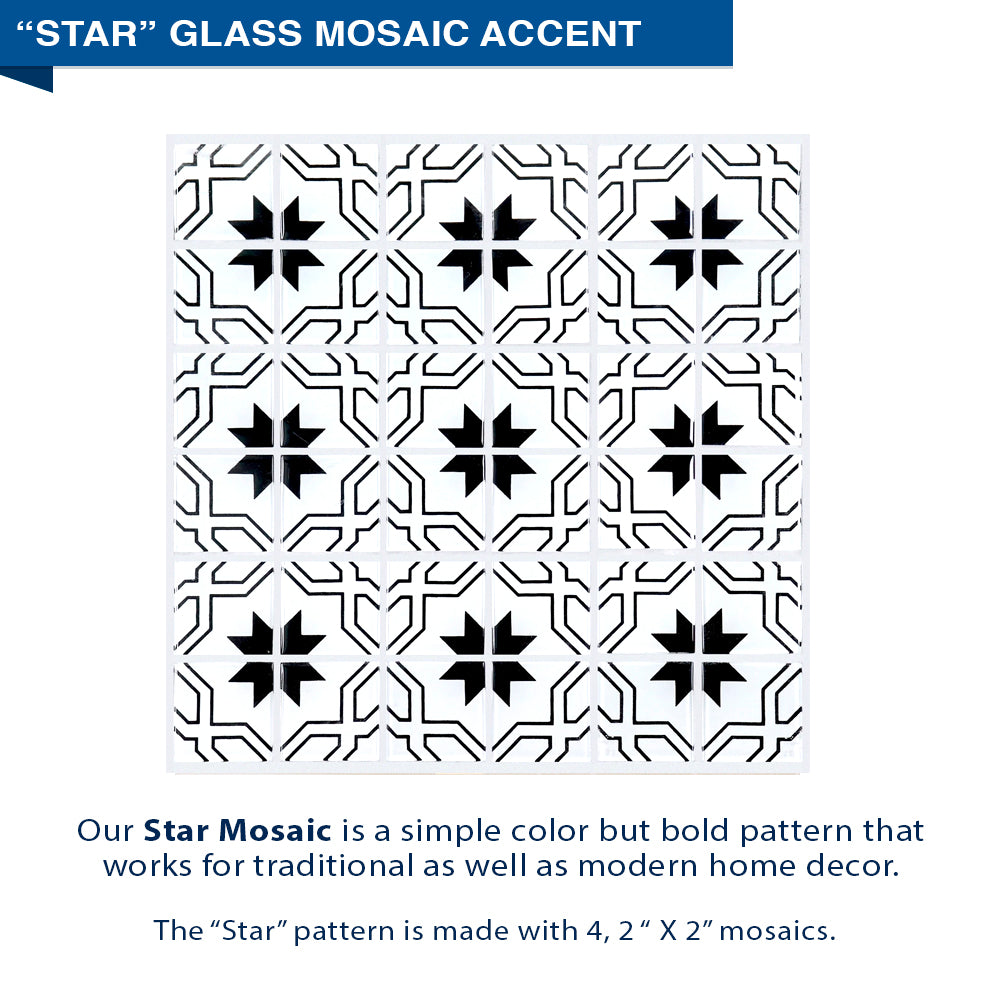 "Freedom Star Mosaic Wet Cement 60"" Alcove Shower Kit"