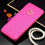 Luxury Diamond Leather Case For Samsung Note 8