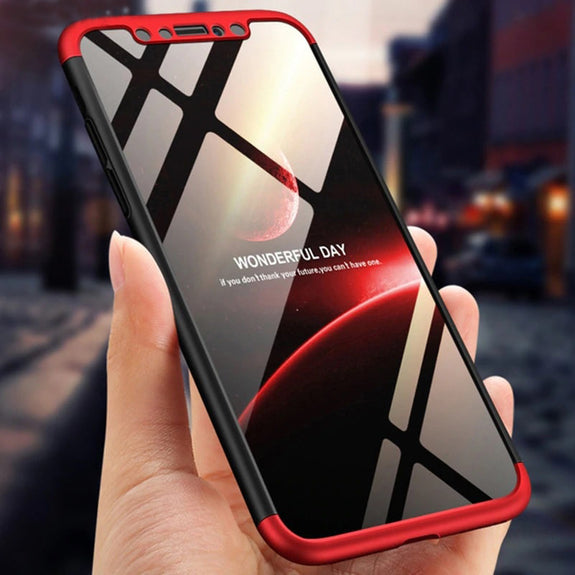 red iphone xs max 360 case