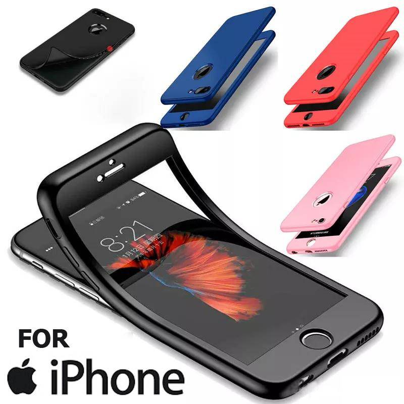 online store 19f9d c2ac2 Luxury 360 Full Cover Soft TPU Case For iPhone