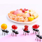 12Pc Mini Ant Fruit Plastic Fork Kitchen Gadgets