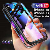 Magnetic Adsorption Metal Bumper Case For iPhone XR/XS/XS Max