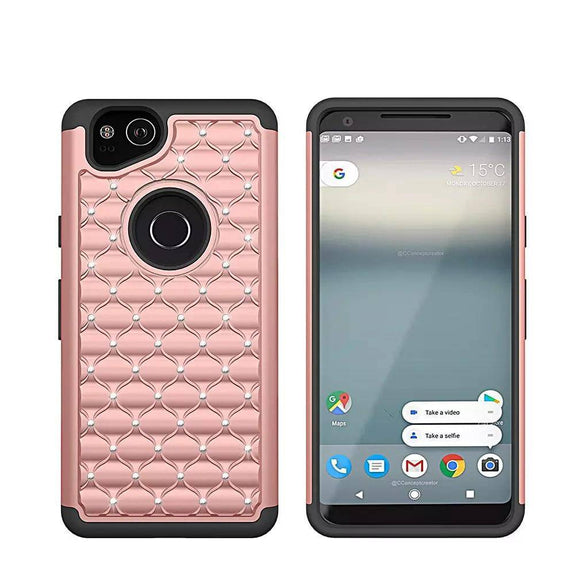 91db80d4a2c Hybrid Armor Bling Case For Google Pixel 2   Pixel 2 XL – Bright ...
