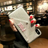 HOT Luxury Glitter Cute Wallet Case for iPhone