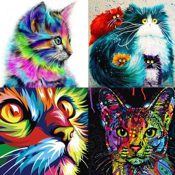 DIY Paint By Numbers Kits - Cats Collection