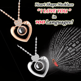 100 Ways To Say ♥ I LOVE YOU ♥ - Heart Shape Necklace