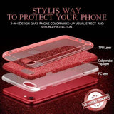 3-IN-1 Gradient Bling Glitter Cover for iPhone