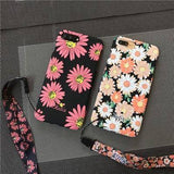 Luxury Daisy Matte Protective Case For iPhone
