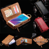 Luxury Retro Leather Samsung Galaxy Wallet