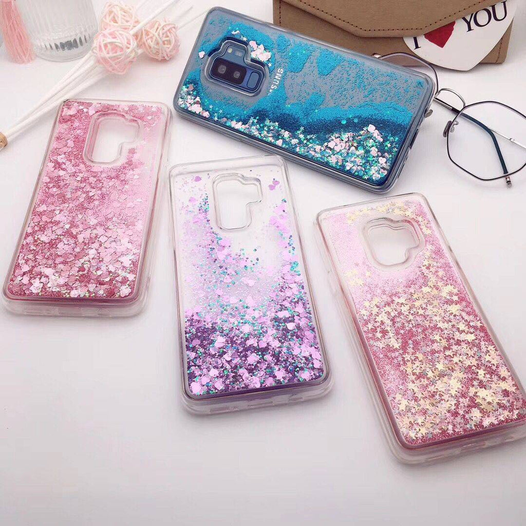 official photos e7615 d2018 Luxury Bling Liquid Quicksand Case For Samsung S9/S9+