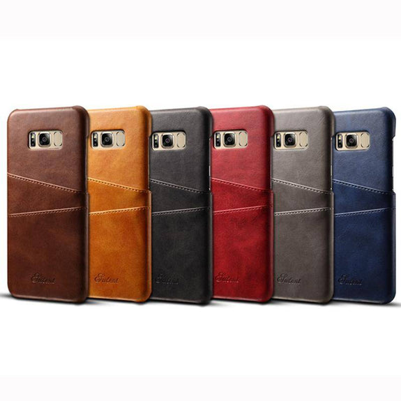 Vintage Leather Back Hard Case for Samsung Galaxy S8 / S8Plus
