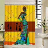 High Quality Waterproof Polyester Bathroom Shower Curtain