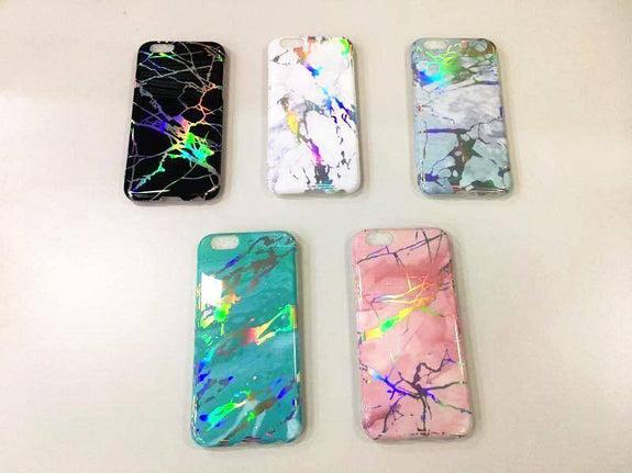 Holo Chrome Marble Case For iPhone