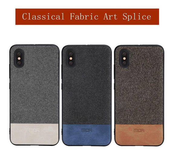 Elegant Silicone Fabric Art Shockproof Case For iPhone X