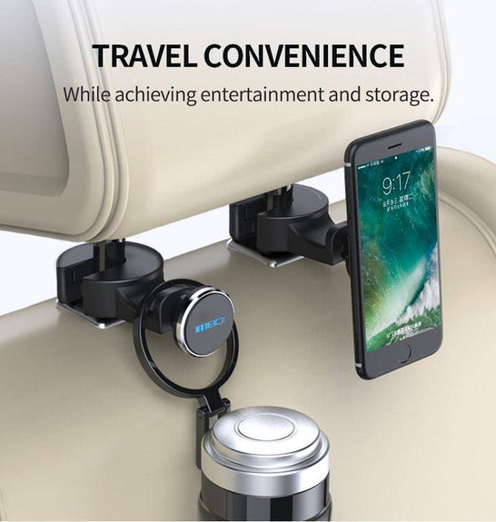 2-in-1 Backseat Headrest Magnet Phone Holder
