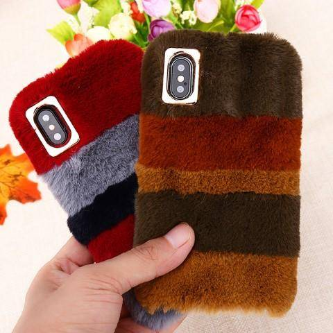 huge selection of 38eae df99a Cute Fluffy Fur Case for iPhone 8 / 8+ / X – Bright & Sparkly
