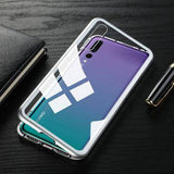 Discount Magnetic Adsorption Tempered Glass Case For Huawei P20 Lite / Pro