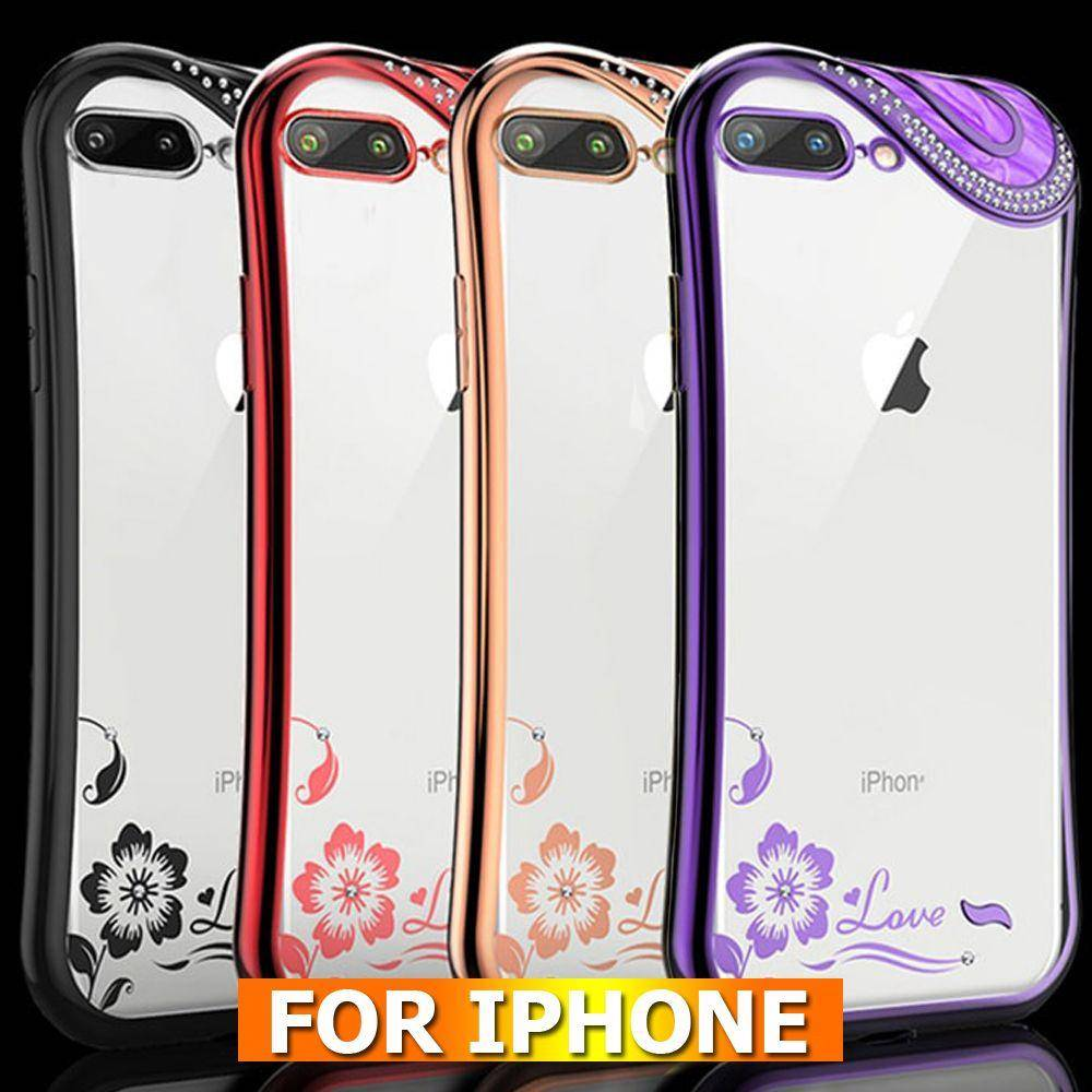 sports shoes b8207 a15d3 Luxury Fashion Silicone Diamond Case For iPhone