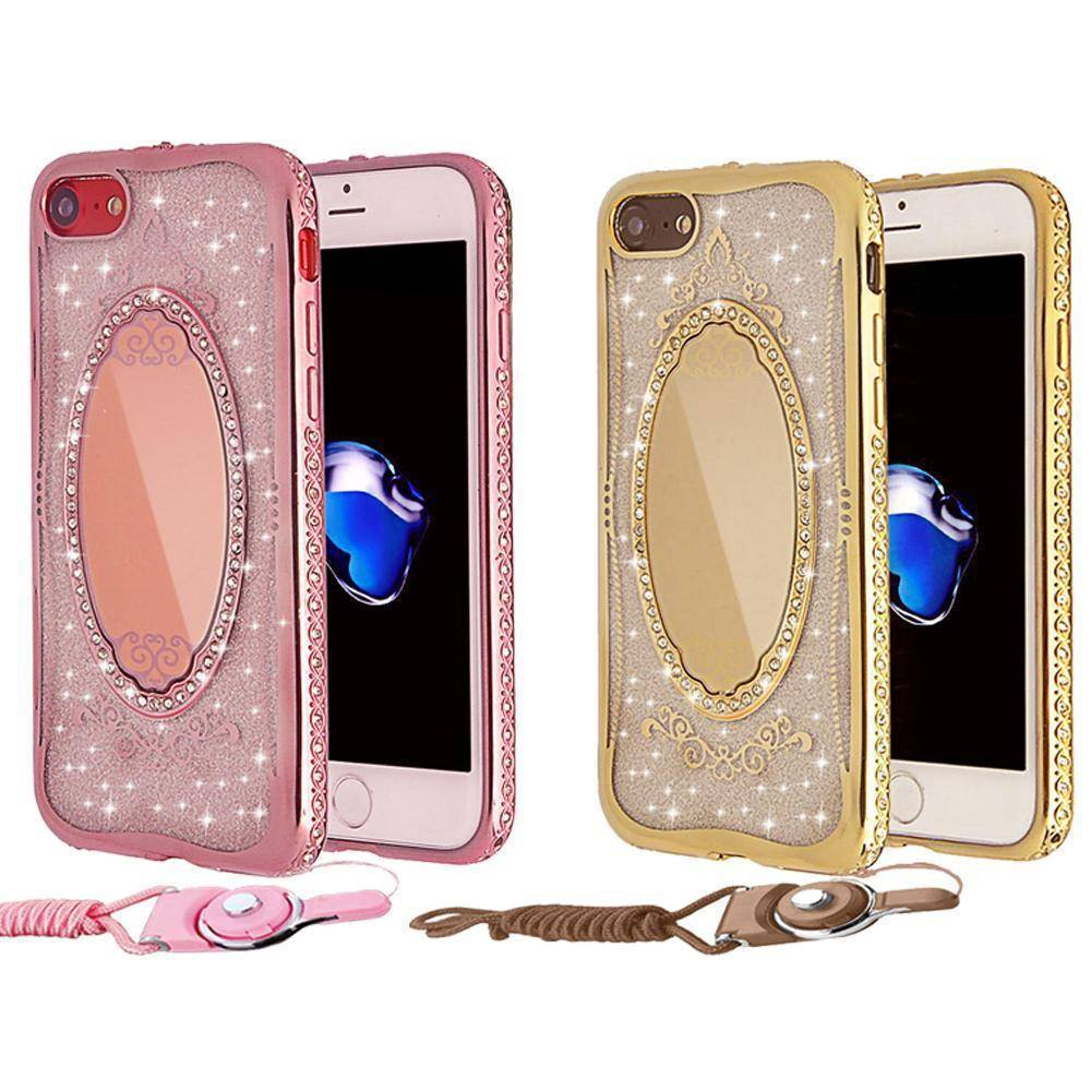 newest 3345a 273bf Luxury Diamond Bling Mirror Case For iPhone