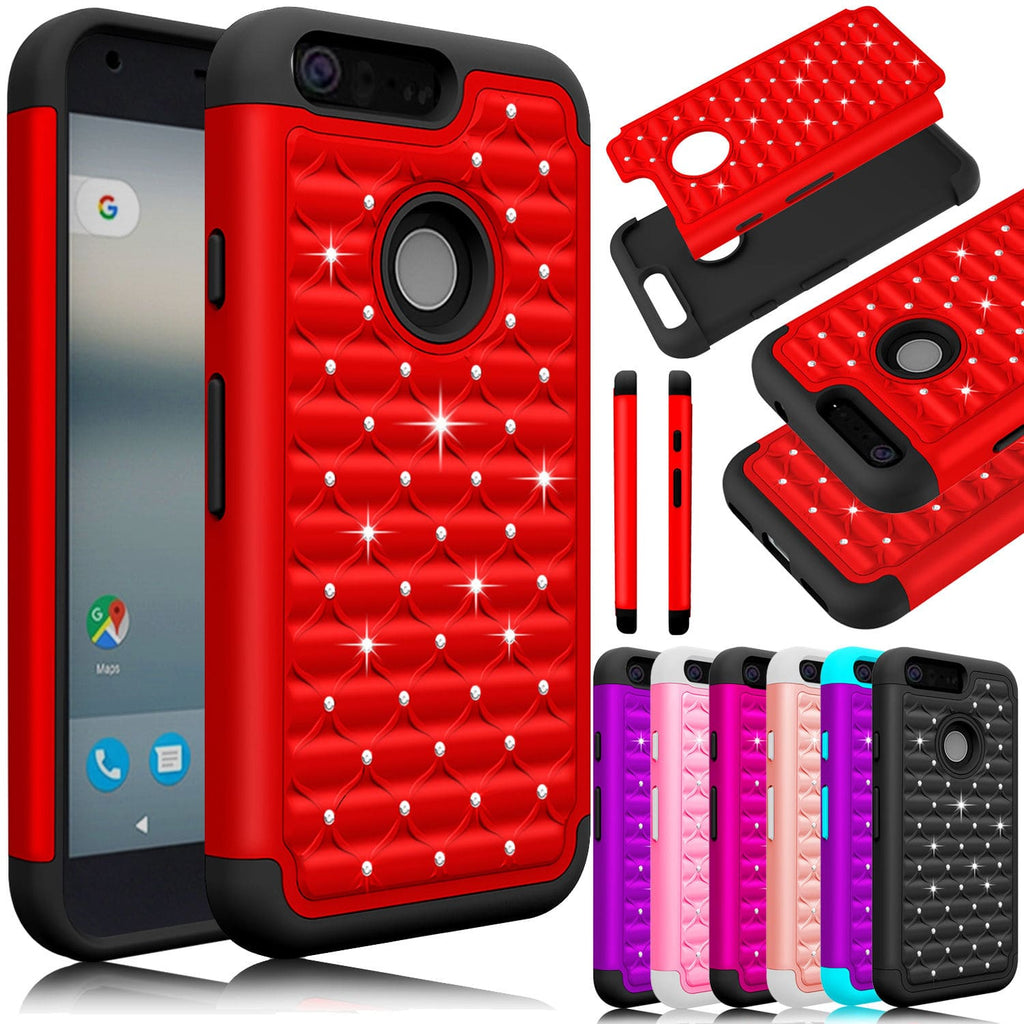 check out 5f7e5 45626 Discount Hybrid Armor Bling Case For Google Pixel