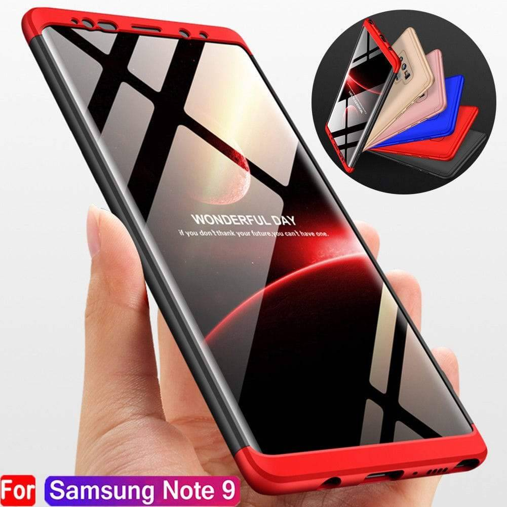 newest f7842 11e8e Luxury Hybrid 360 Degree Protection Case For Samsung Galaxy Note 9
