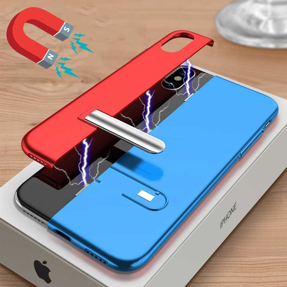 Bracket Magnetic Contrast Color Case For iPhone XR/XS/XS Max